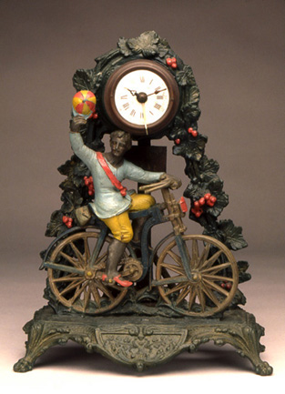 Paris-Brest Race Trophy, ca. 1893<br> Cast polychromed white metal<br> France