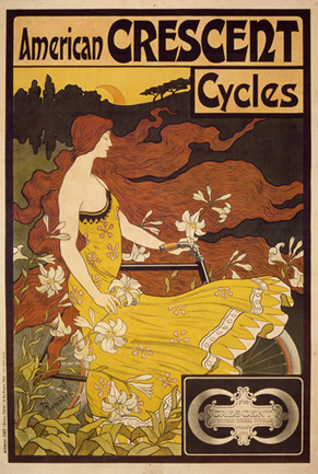 American Crescent Cycles, 1899<br> Frederick Ramsdell, (American)<br> Lithograph<br> France