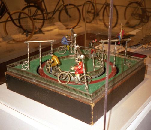 Mechanical Bicycle Race, ca. 1900<br> Wind-up game<br> Germany