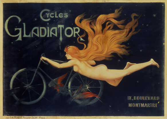 Cycles Gladiator, ca. 1900<br> C.B.<br> Lithograph<br> France