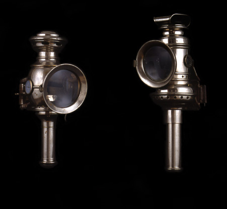Candle Lamps, ca. 1910<br> Nickel-plated brass<br> United States