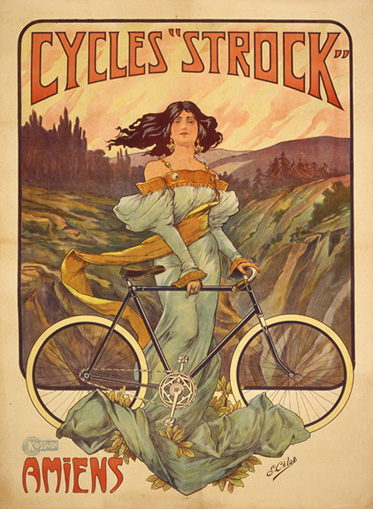 Cycles Strock, ca. 1900<br> E. Celos<br> Lithograph<br> France